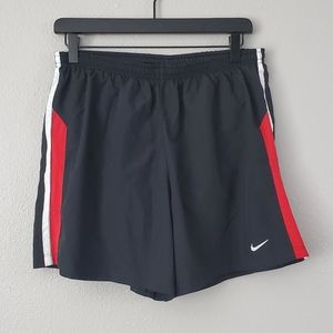 Nike Running Dri-Fit Black Red Shorts Size Large